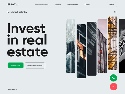 Binhoff - Web Design for investment company aftereffects motion design uxui uxdesign ui design landing design landing web ui clean ux investments investment minimal scroll website landingpage motion animation web design