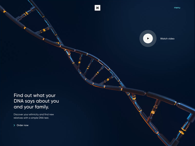 DNA Test - Web Design, 3D and Motion website colors landing page landing neon web design 3d art ux ui animation interaction animation interaction 3d animation motion dna test dna 3d modeling 3d