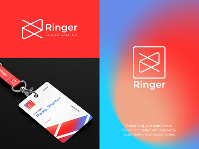 Ringer - Brand Design for SaaS service business card corporate branding corporate design branding concept gradient fonts font typogaphy print materials ui colors brand identity logotype logodesign logo brand design branding brand