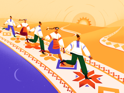 Illustration - Ukrainian Vyshyvanka Day national ukrainian ukraine colorfull typography vector illustration art ui colors color illustrator illustration