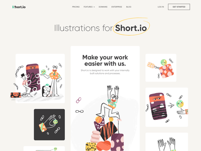 Short.io - Illustrations for Link Manager 2d 2d illustration vector colors web illustration web design ui design ui link manager link modern illustration illustrator illustration