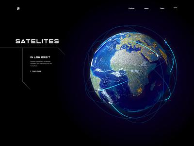 Satelite - Web Design for Satellite Systems 3d earth eart satellite system satellite ui ux design ui design web design motion design motion 3d animation animation 3d modeling 3d model 3d