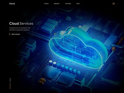 Cloud - Web design with 3D web design 3d design motion graphics animation design minimal clean ui landing page design landingpage landing webdesign 3d