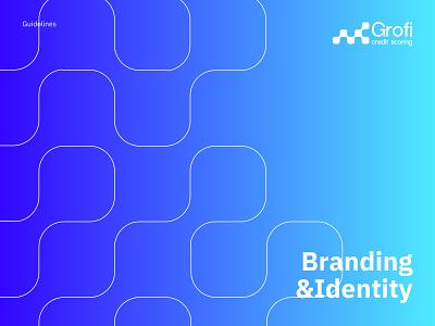 Grofi - Finance & Credit Brand Design clean finance branding credit finance minimal brand book design brand book colors ui branding logotype graphic design brand identity brand logo design logo