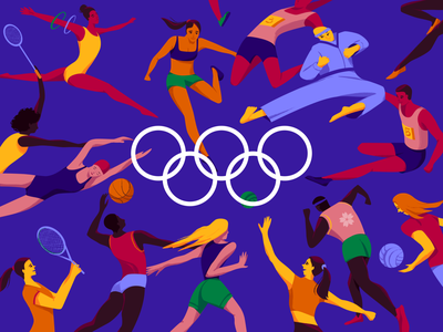 Olympic Games Tokyo 2020 sport events sport motion graphics clean colors motion animation tokyo olympic games tokyo olympic games illustrator illustration ui design ui web design