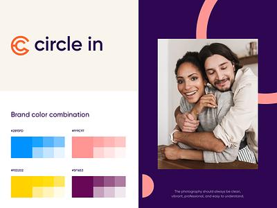 Circle In - Branding & Web Design ui colors clean design redesign saas web app design website web app website design web design logotype logo design logo brand guidline brand book brand identity branding