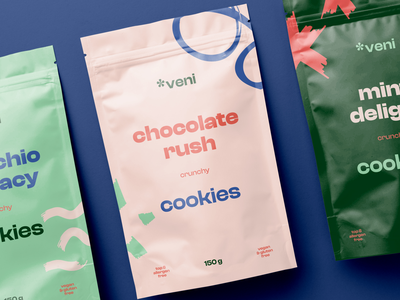 Veni - Brand Design for Food Delivery clean minimal typography card banner store online store delivery branding restaurant branding delivery food delivery logo design logo graphic design brand brand design branding