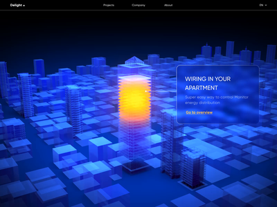 Delight - 3D and Animation for Smart Home colors animation ai web web design smart home ui motion graphics motion 3d model 3d illustration 3d animation 3d