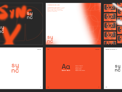 Sync - Brand Design for Platform for Young Musicians modern design platform music music brand ui graphic graphic design brand book logo book logo design logo branding brand design brand