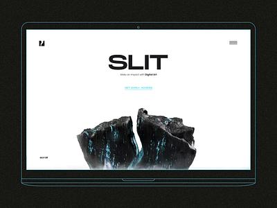 SLIT - Web Design and 3D for NFT market landing landing page web site ui design nft design 3d iceberg iceberg 3d model 3d motion animation web design ui nft marketplace nft market nft