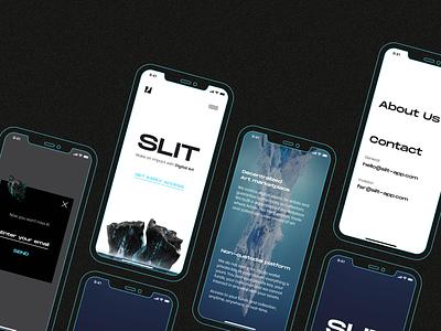 SLIT - Responsive Design for NFT Market clean trends mobile trends iceberg 3d model 3d ui marketplace nft marketplace nft market nft responsive design responsive mobile app mobile design mobile