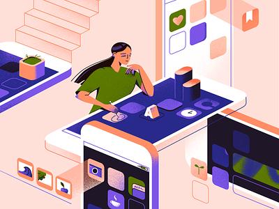 Girl - 2D Illustration ui colors art digital illustration digital mobile app vector girl 2d illustration 2d illustrator illustration