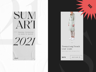 Clothing Store - Shopping Card Design minimal clean mobile design web design ecommerce fashion fashion design online store card store clothing store shopping card ui design ui