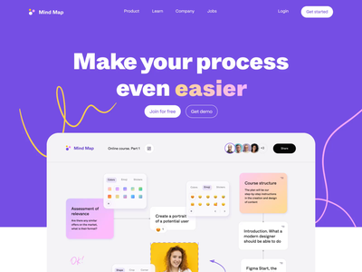 Mind Map - Design for Web Application interface motion graphics colorful colors ui animation motion mind map web application web app web design web