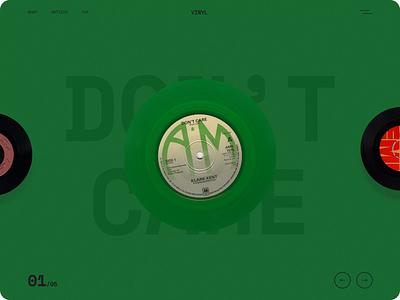 Vinyl - Web Design for Vinyl Store vinyl store vinyl colors clean motion graphics motion animation ux design ui design ui web web design online store