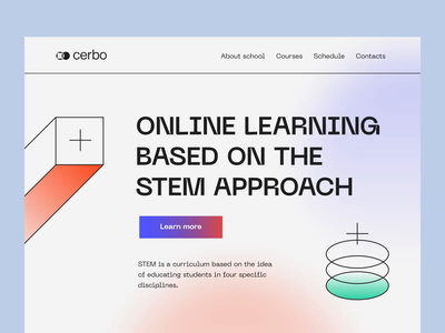 Cerbo - Web Platform for Online Education motion animation minimal clean interface landing page colors ui design ui e-learning online learning online education web platform web design web