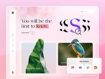 StartUp - Web Design for News Platform online platform design modern design clean start up colors web platform web app news ui design ui web design web