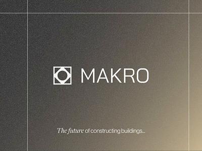 MAKRO - Brand Design for Construction Company fonts texture clean build company construction construction company logo design logo graphic design ui branding brand brand design
