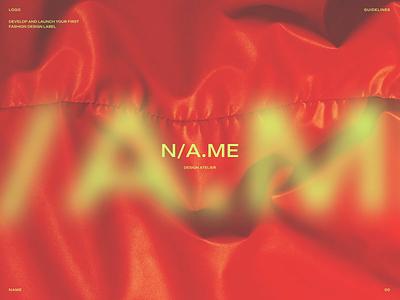 NAME - Brand Design for Design Atelier neon bold design designer design atelier modern design colors ui graphic design typography logo design logo brand branding brand design