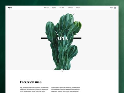 Apia  blog simple website web ui turquoise minimal flower clean plan green