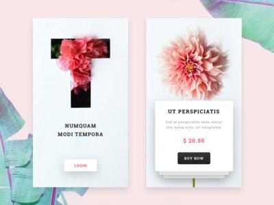 Flower Shop mobile app