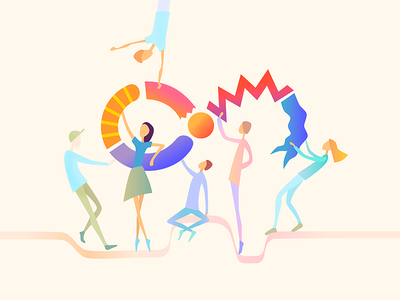Outcrowd. Teamspirit! people colorful illustration spirit team article