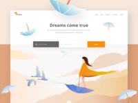 Dreams - landing page