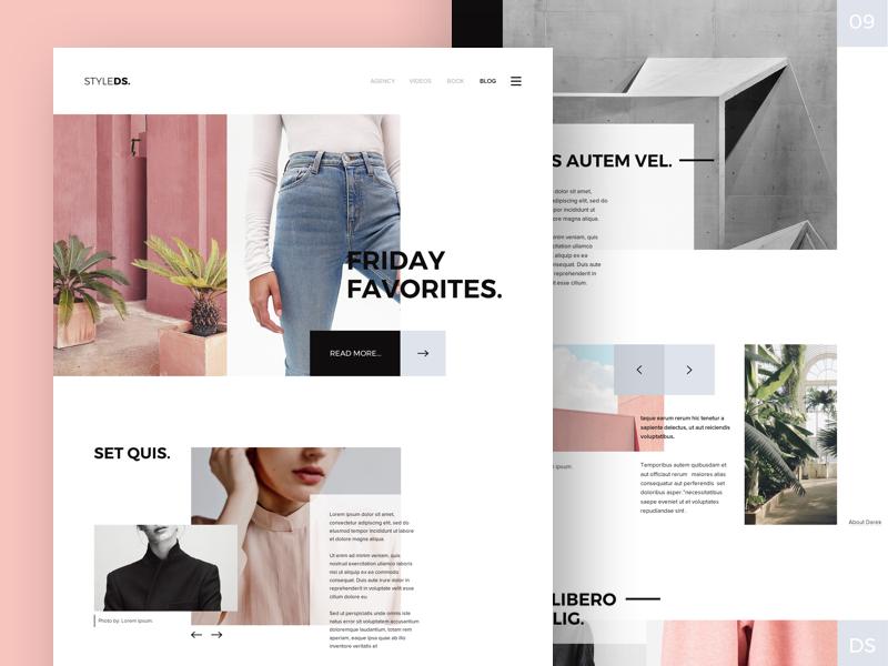 Styledc / models agency models clean white landing web blog fashion