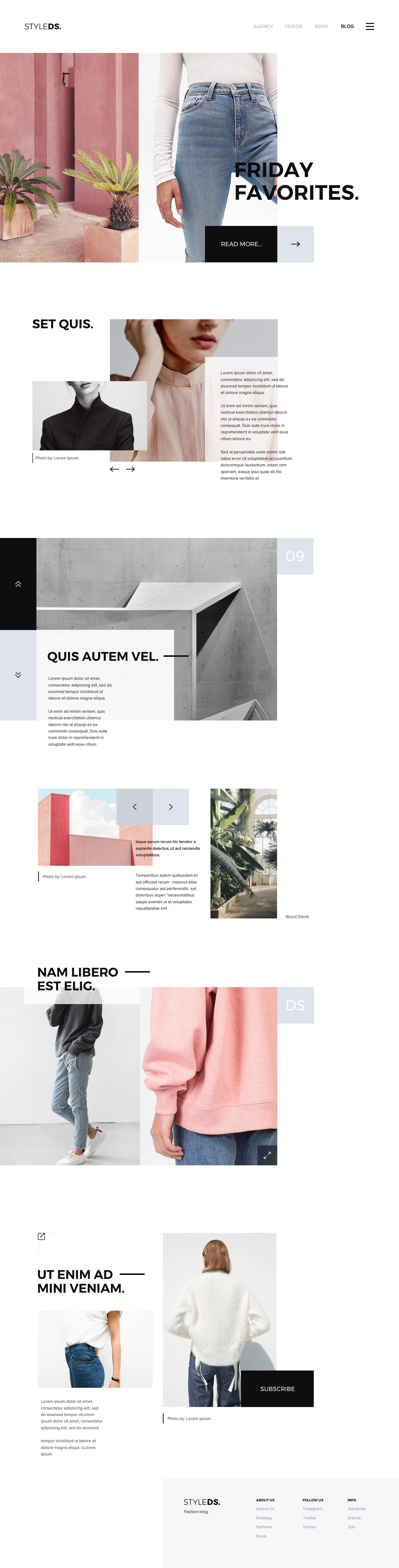 contoh desain web - blog