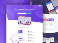 CupiData – Landing Page