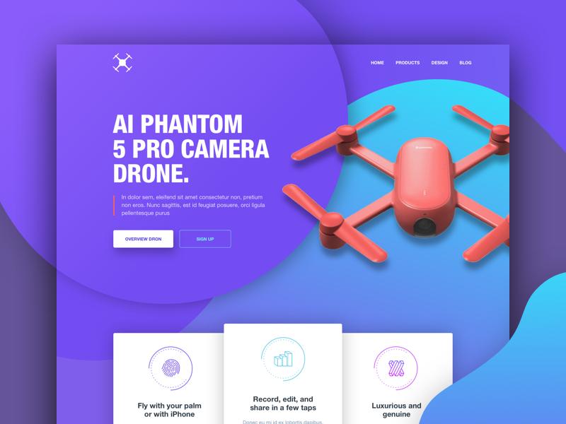 Camera dron - landing page landing