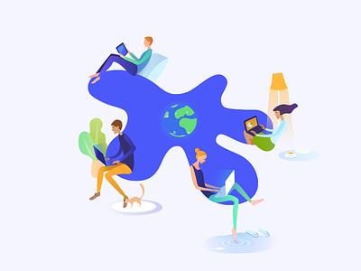Trackly illustration freelance user work illustration