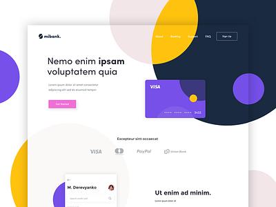 MiBank - Landing Page website one clean design web ux ui page landing