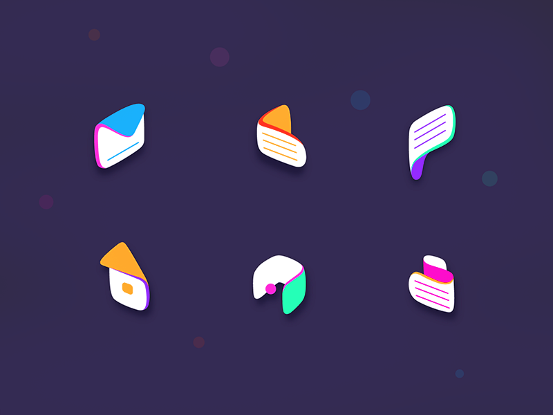 Icons Illustration colors icons vectors illustration