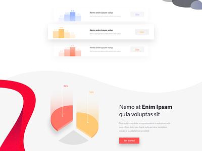 Volcano - Landing Page color vectors illustration one clean design web ux ui page landing