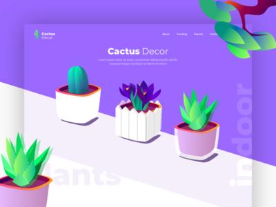 Cactus - Landing Page