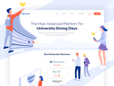 Charidy - Landing Page colors illustration one clean design web ux ui page landing