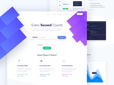 Second - Landing Page colors one clean design web ux ui page landing