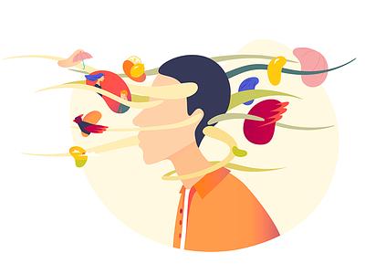 Memories Flow colors memories vectors illustration