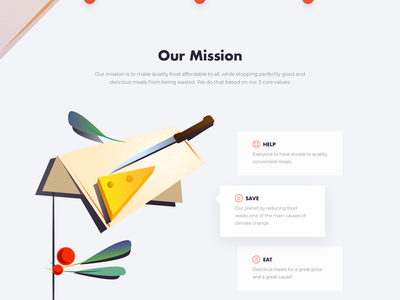 For all food lovers website colors clean minimal ux illustration ui web landing