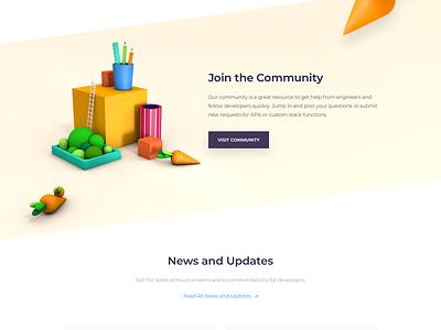 DevCarrot - Landing Page minimal 3-d web page ux illustration colors clean ui landing