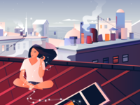 On the roof illustration