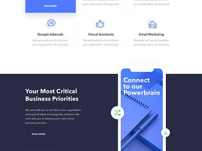 Consulting - Landing Page vectors website minimal ux design web landing ui colors clean