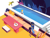 By the pool illustration