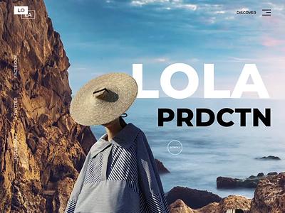Lola PRDCTN - Landing Page fashion animation website minimal design web landing ux ui colors clean