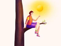 Illustration - Holding the Sun