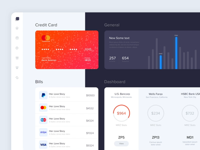 Modern Dashboard animation app dashboard minimal web ux ui colors clean