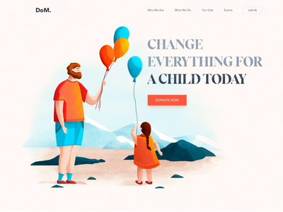 Landing page - Children are everything children animation website minimal illustration web landing ux ui colors clean