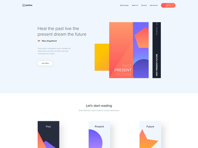 Landing page - Geometrical shapes