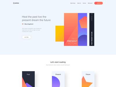 Landing page - Geometrical shapes